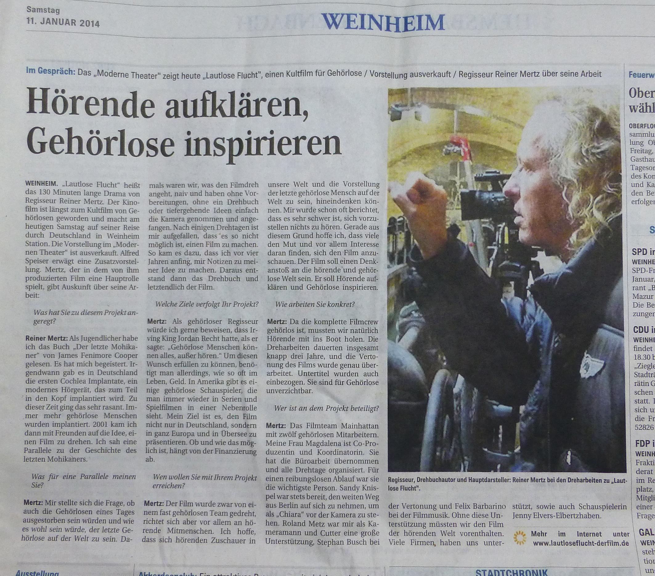 Presse Weinheimer Zeitung